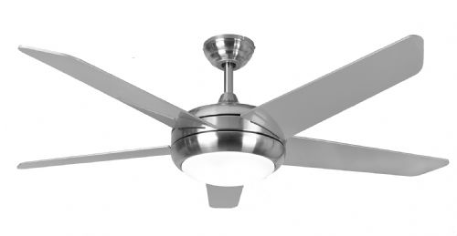 "Eurofans Neptune  44"" Brushed Nickel Ceiling Fan + Remote Control + LED Light 115878"